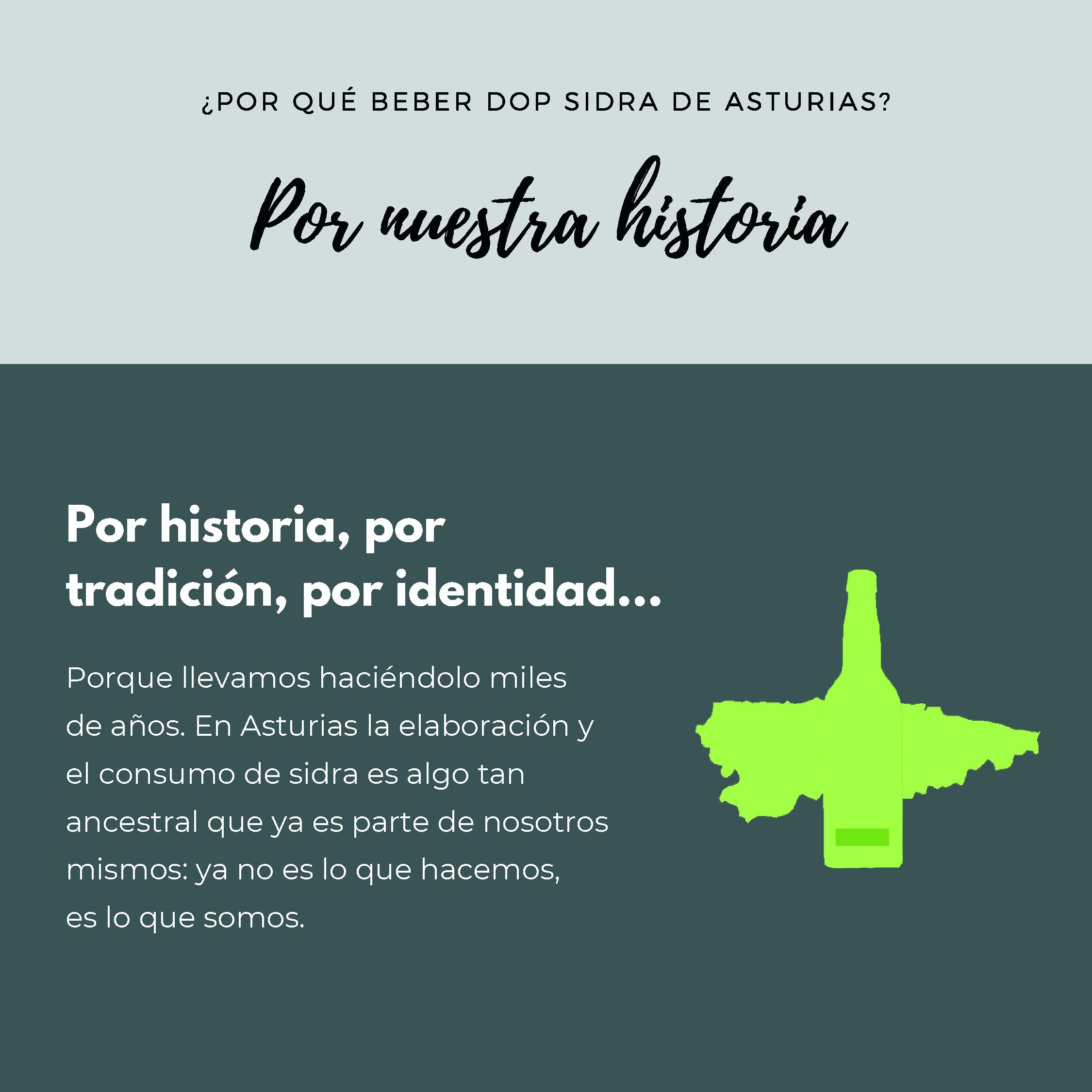 Por qué beber dop sidra de asturias - Gris